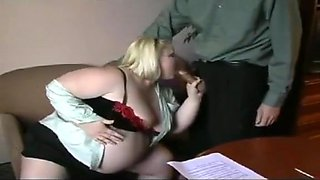 Pregnant BBW Fucks Teacher