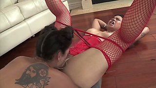 Exotic MILF teaches playful chick everything about anal sex