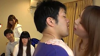 japanese wife play sex game with other husband and loser get punishment