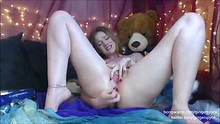 Princess Bubblebutt Sodomy Gape Squirts P2 - Solo - Ginger Spyce