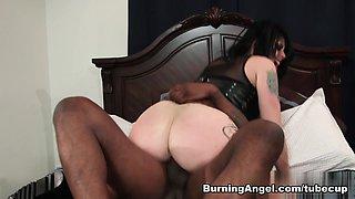 Crazy pornstars Joanna Angel, Small Hands in Horny Brunette, Emo porn clip