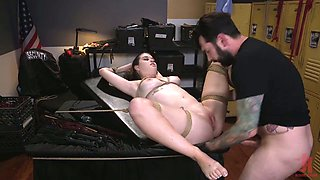 Perverted Anastasia Rose has juicy boobies and she is made for bondage
