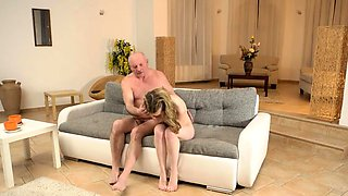 DADDY4K. Cutie permits BFs old daddy to penetrate her snatch