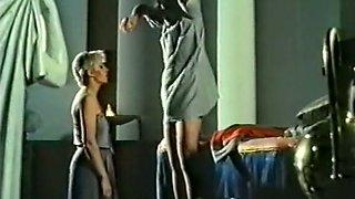 Sweet blonde naughty bimbo giving head to her lord