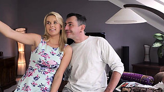 DADDY4K. Aroused chick allows old dad to analyze her in...