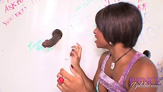 Imani Rose is a hot black chick excited about a massive BBC