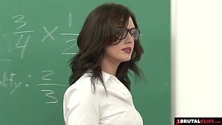 Teacher gets a double fuck from her students