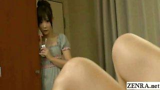 Subtitle Japanese schoolgirl watches teacher masturbate