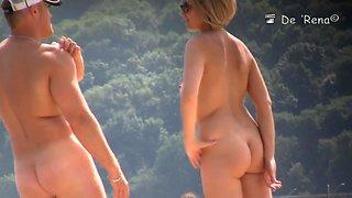 Nude beach video starring  blonde naked milf