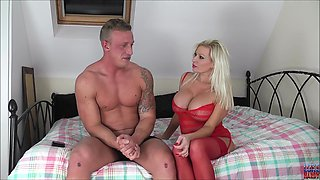 MILF blonde whore with huge tits Michelle Thorne needs cum