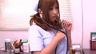 Doctor teases the nurse