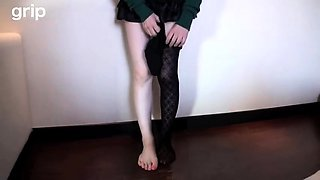 Dominant Japanese beauty has her slave licking her sexy toes