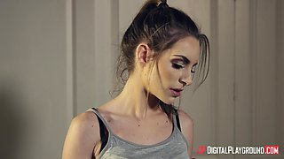 Cheating wife Kimmy Granger goes to her lover's place to be fucked