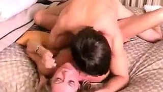 Blonde Milf Fucks Young Stud In Bed