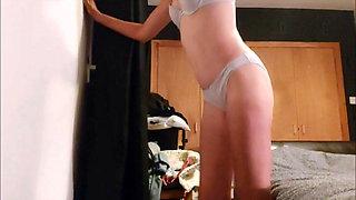Dirty wife nikita in cotton panties and bra