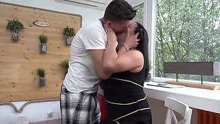 Horny mommy got down and dirty with her step- son and enjoyed every second of it