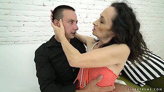 Nasty granny with tiny tits Milly gets banged by a horny stud
