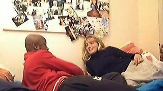 French mature interracial couple has sex