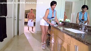 In the kitchen with Mature