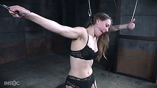 Standing moaning bitch Sierra Cirque gets her bum slapped hard enough