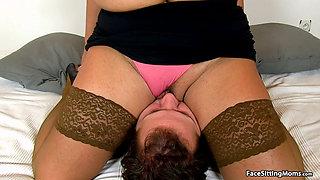 Mature Face Sitting on her Slave - Eva