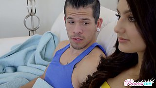 Pretty hot teen with dimples Eliza Ibarra seduces her stepbrother