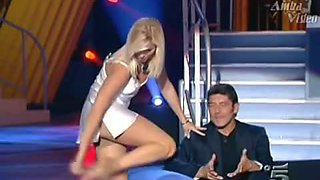 TV show strip tease, glorious ass, upskirt gown video