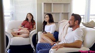 Bitchy brunette Whitney Wright seduces boyfriend of her nerdy stepsister