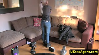 Czech casting babe doggystyling agents cock