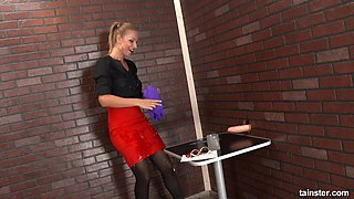 Carol ends up in a messy situation after some gloryhole action