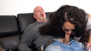 german husband is cheating with cuckold girlfriend