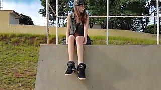 teen public flash and masturbate part 2