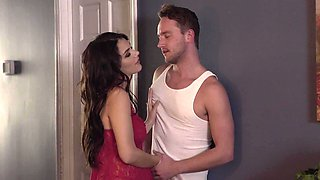 Big-boobied beauty has a good time with her brother-in-law