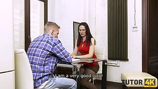 TUTOR4K. Tutor tried to delude man and get money for nothing but was humped