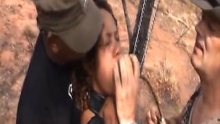 Hot ebony chick loves to be abused by her master