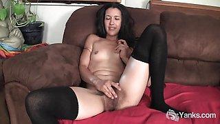 Hot Livia Vibrating Her Pussy