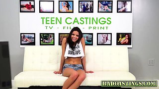 Innocent cutie casted for porn movie