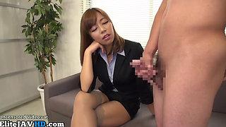 Japanese female boss humiliates new worker