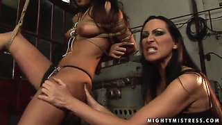 Femdom fun between Mandy Bright and Oliva