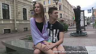 Young Sex Parties - Great foursome with eager teens