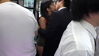 Bus groping young lady molested 03
