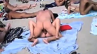 Horny mature wife having sex with her lover on the beach