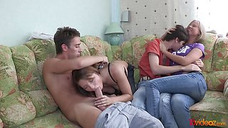 Naughty Teen couples share sex experience