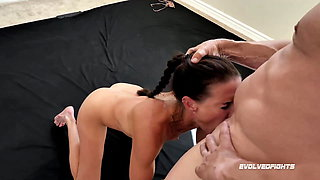Sofie Marie, naked wrestling, sex fight, taking cock rough