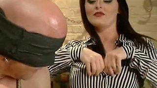 Mistress Sophie Dee owns his cock