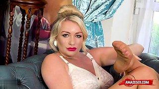 Big tits pornstar nylon and cumshot