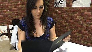 More Sinn Sage pissing her jeans and panties omorashi