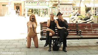 Fully Nude Bondage Slut Services Public Disgrace - PublicDisgrace
