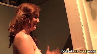 Kasey Warner Gets Her Pussy Slammed By Black Cocks
