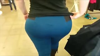 Mc Bootay in Blue and White Panties